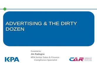 Advertising & The Dirty Dozen