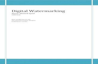 Abrar Ahmed Syed_Digital Watermarking