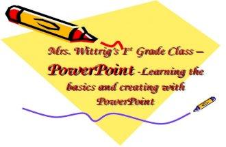 Powerpoint Presentation Technology Class