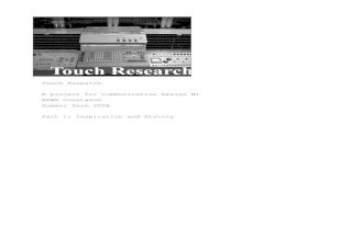 Touch Research 1: Inspiration and History [Handouts]