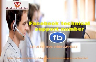 Facebook technical support number 1-866-224-8319 - A Smart Tactic to Get Quick Resolution