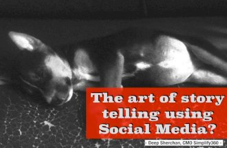 The Art of Story Telling using Social Media