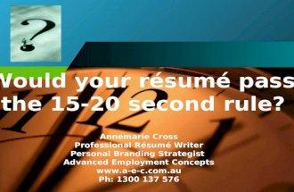 Powerful Resumes