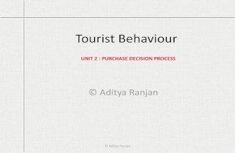 Tourist behaviour, unit 2