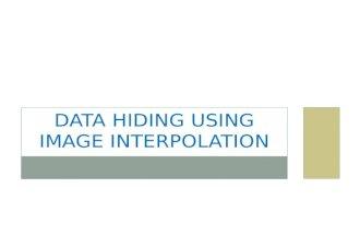 Data hiding using image interpolation