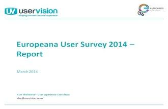 Europeana User Survey 2014 Report
