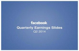 Facebook - résultats financiers pour le 2nd trimestre 2014