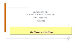 Intro to Software Engineering - Software Testing