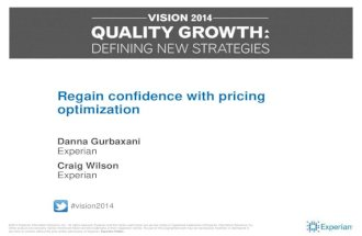 Vision 2014: Regain Confidence With Pricing Optimization