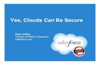 Peter Coffee Open Group Cloud Security Debate Seattle 2010/02/03