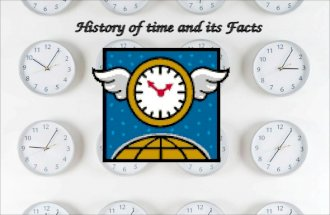 History of time - PowerPoint presentations for kids
