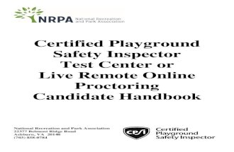 Certified Playground Safety Inspector Test Center or Live ... Certified Playground Safety Inspector