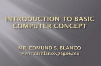 Introductiontobasiccomputerconcepts
