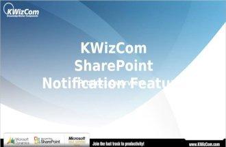 KWizCom SharePoint Notification Feature