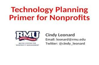 Technology Planning Primer for Nonprofits