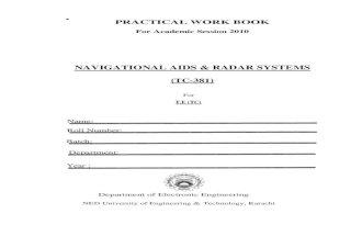Navigational Aids & Radar (Tc) Lab Manual 2010