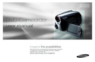 Samsung Camcorder SC-DX200 User Manual