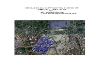 GIS Based Oil Distribution System of Parco[PAK ARAB REFINERY] Ltd.Pakistan