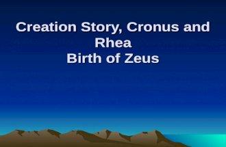 Creation story, cronus and rhea