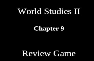 World Studies II Chapter 9 Review Game Industrialization Way of LifeAmerica & Europe Economic Philosophers UnionsMISC 10 20 30 40 50 60 70 80 90 100