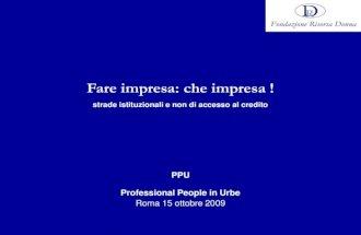 Presentazione Finanza Agevolata 15 10 2009