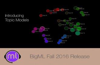 BigML Fall 2016 Release