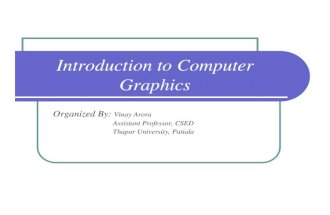 CG - Introduction to Computer Graphics