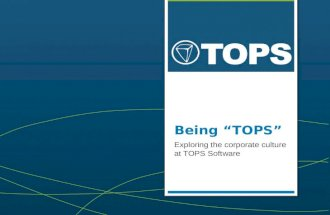 Being TOPS - Culture Deck